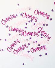 Pink Bunting Christening Girls Purple Stars Table Confetti Decoration 14-84g