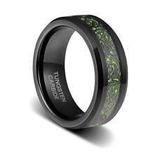Green Black Celtic Dragon Band Ring Mens Size 9 Tungsten 8mm Wedding Women