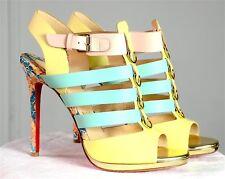 Sandales en cuir CHRISTIAN LOUBOUTIN modèle Mary June Multi. Leather sandals.