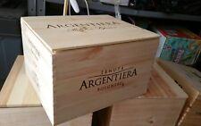 cassa di legno vuota  del vino Argentiera da 6 bottiglie