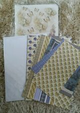 Selection of card making items.See description
