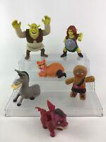 Shrek Toy Figure Lot 6pc Fiona Dronkey Gingerbread Man Dreamworks McDonalds C2