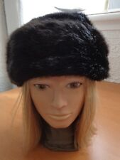 EXCELLENT FAUX FAKE FUR HAT (SIMILAR TO MINK) WOMEN WOMAN SIZE ALL NEW LINING