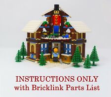 Winter Village Woodcarver INSTRUCTIONS ONLY for LEGO Bricks (Christmas Model)