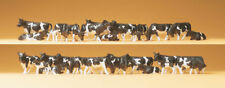 HO Scale Animals - 14408 - Pack of 30 Black & White Cows
