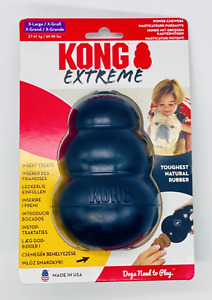 **NEW** KONG Genuine Extreme Rubber Dog Chew Toy (All Sizes)