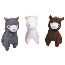 3PCS Plush Alpaca Colored Dog Toys with Squeaker Pet Puppy Chew Toy Gift Set
