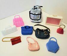 Barbie PURSES LOT #6 Accessories BookBag Crossbody Tote Saddle Bag Suitcase Camo
