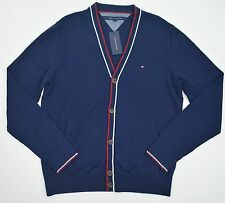 NWT Men's Tommy Hilfiger Long Sleeve Cardigan Sweater Navy Blue Large L