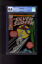 Silver Surfer #14 CGC 8.0 BY Lee & Buscema Spider-Man appearance