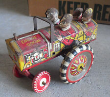 """Vintage 1950s Marx Queen of the Campus Krazy Car Windup Toy 5 1/2"""" Long"""