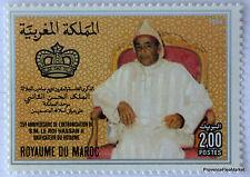 MAROC Yt 999  25ème anniversaire de l'intronisation du Roi Hassan II
