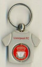 LIVERPOOL F.C SPINNER KEY RING OFFICIAL MERCHANDISE CREST SILVER GREY RED