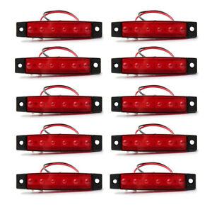 LED Marker Lights RED Cab Recovery Platform Car Van Boat Exterior Lamp 12V 10PCS