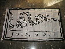 Wholesale Lot 100 3x5 Join or Die Benjamin Franklin Snake White Flag 3'x5'