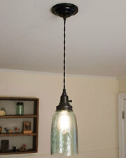 Black Ceiling Canopy Kit for Pendant Lamp Lights by CTW Home Collections