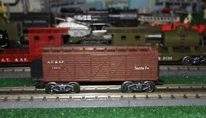 Marx Santa Fe ATSF Brown Cattle Car # 13975 - G Trucks