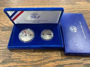 2 Coin 1986 U.S Statue of Liberty Commemorative Proof 90% Silver Clad Half Dol.