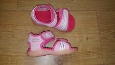 GIRLS ADIDAS PINK WHITE SWIMMING SHOES SANDALS SIZE 5 K