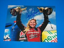 COURTNEY FORCE NHRA DRIIVER SIGNED 8X10 PHOTO coa JOHN FORCE BRITTANY FORCE