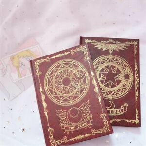 Anime Card Captor Sakura Retro Notebook Diary Travel Journal Writing Book Paper