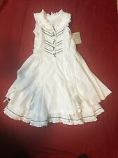 Jottum Big Girls White Semina Summer Dress  Sz US 10/140 NWT
