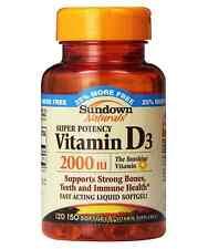 Sundown Naturals Vitamin D-2000 Iu Softgels, 120 ct
