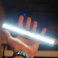 10 LED Bright PIR Motion Sensor Light Cabinet Wardrobe Drawer Light Lamp Bulb