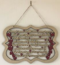Memorial Poem Hanging PLAQUE Sign 30 X 20cm Gold Silver Though Your Smile