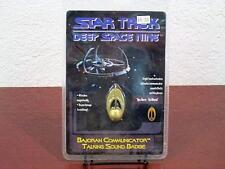 1996 STAR TREK DEEP SPACE NINE BAJORAN COMMUNICATOR TALKING SOUND BADGE MIP