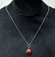 Solid 925 Sterling Silver Jewelry Carnelian Gemstone Daily Wear Gift Necklace