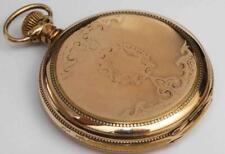 1901 Antique & Ornate Elgin Hunting Case 16 size Pocket Watch w/ 3 Finger Bridge