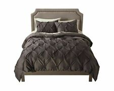 NWT Threshold Pinched Pleat Comforter and Shams Set - Gray Full / Queen