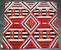 Antique Navajo Germantown Shoulder Blanket - Chiefs Blanket c. 1890