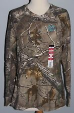 New LADIES Realtree Xtra Thermal Shirt Henley M XL Womens Hunting Camo Top