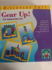 Gear Up! Discovery Toys 3-D Construction Set Age 6+ Elementary Learning 1999