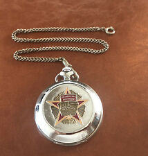Rare Molnija Soviet Russian USSR Pocket Watch Perestroika Glasnoct Mint