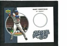 GARY SHEFFIELD DODGERS SLUGGER 2001 UD AUTHENTICS ''STARS OF '89'' JERSEY RELIC