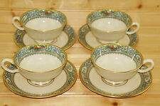 "Lenox Autumn- Set of (4) Cups, 2 1/8"" & (4) Saucers, 5 3/4"" Gold Stamp"