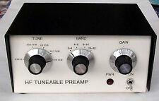 HF Tuneable Preamp 1.8-30MHz. For receive only. Made in Dorset UK.