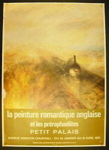Manifesto Esposizione La Pittura Romantico Inglese & I Preraffaelliti 1972