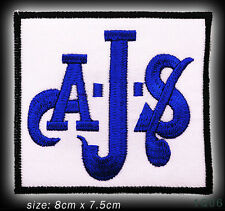 AJS Classic Motorcycles Iron-On / Sew-On Embroidered Patch - #1Q06