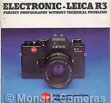 Leica R3 Electronic fotocamera e obiettivo sistema SALES BROCHURE, più cataloghi elencati