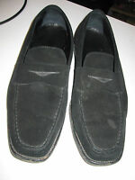 Men's Tod's black suede loafers  sz 10 1/2