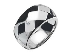 Diamond Ring - IT Diamonds Facet Band Ring with GENIUNE Diamond Accent