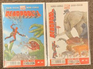 Deadpool #1,2,5,6,9,11,13,18,36,37,45 Marvel Comics Series 3 Posehn Duggan Lot