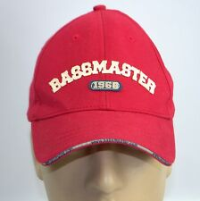 Bassmaster 1968 Red Hat BASS Fishing Sports Baseball Cap LId Cotton Adjustable