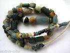 circa.300 B.C Ancient Egypt PTOLEMAIC Period Bronze & Glass Necklace Bead Set