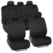Black PolyCloth Full Car Seat Cover Set for Front & Rear Bench fits Toyota Camry