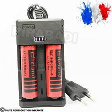 CHARGEUR RS-93 + 2 PILES ACCU RECHARGEABLE 18650 3.7v 3800mAH BATTERY BATTERIE